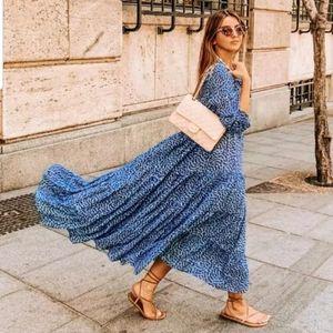 Zara long print dress